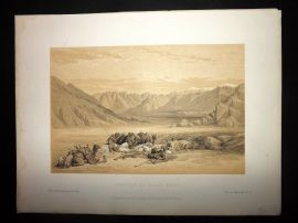 David Roberts Holy Land 1887 Print. Approach to Mount Sinai